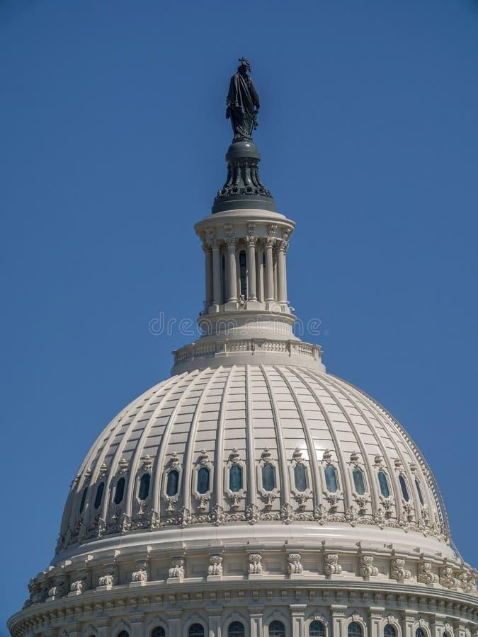 Bóveda del edificio del capitolio de los E.E.U.U. en el Washington DC, los E.E.U.U. fotografía de archivo