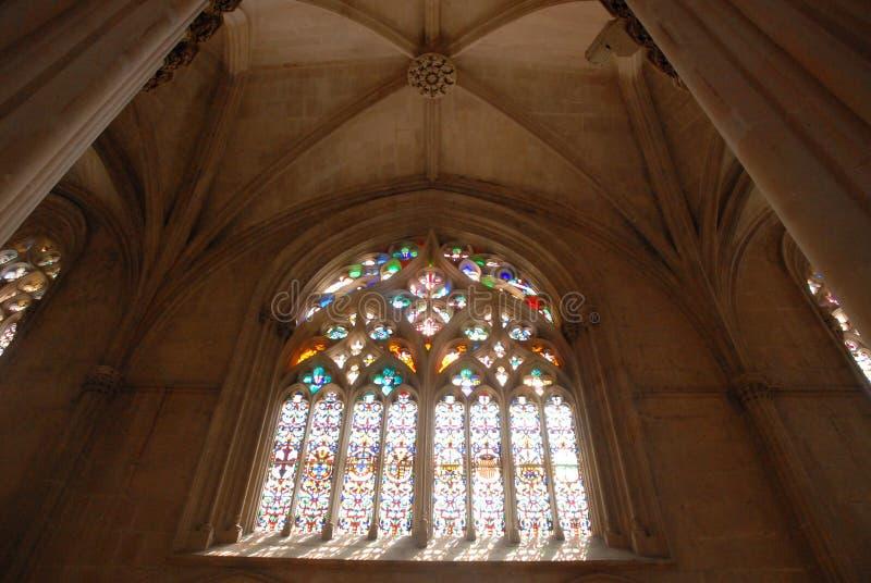 Bóveda del monasterio de Batalha en Portugal fotos de archivo libres de regalías