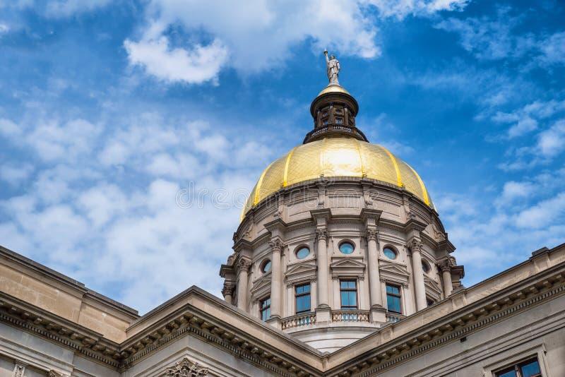 Bóveda del oro de Georgia Capitol imagen de archivo libre de regalías
