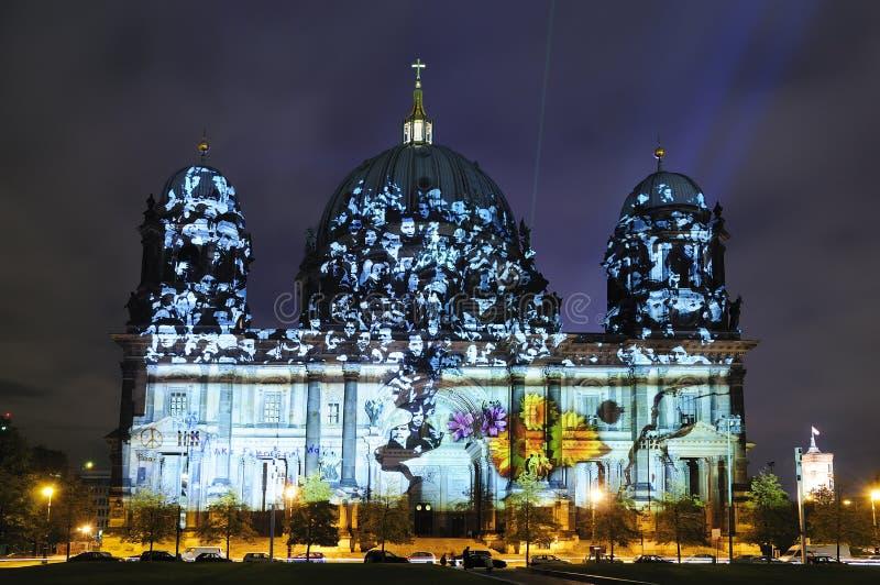 Bóveda en Berlín en la noche foto de archivo libre de regalías