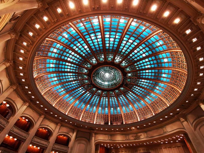 Bóveda - interior en la cámara de diputados en el palacio del parlamento, Rumania imagen de archivo libre de regalías