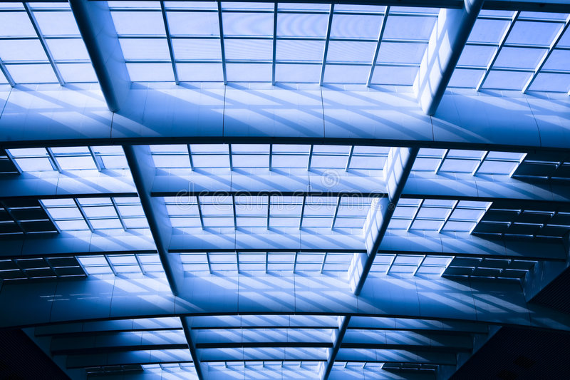 Bóveda moderna del vidrio de la configuración fotografía de archivo
