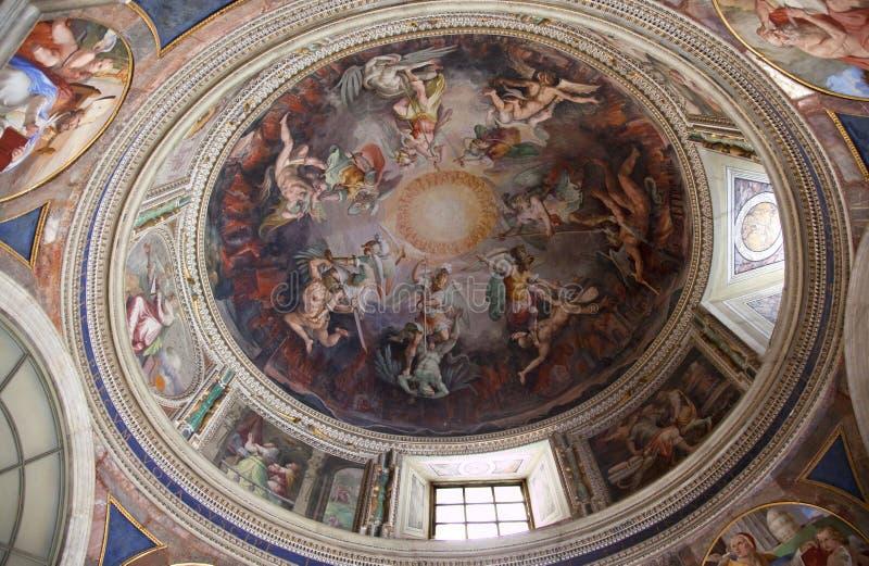 Bóveda pintada museo Roma de Vatican foto de archivo libre de regalías