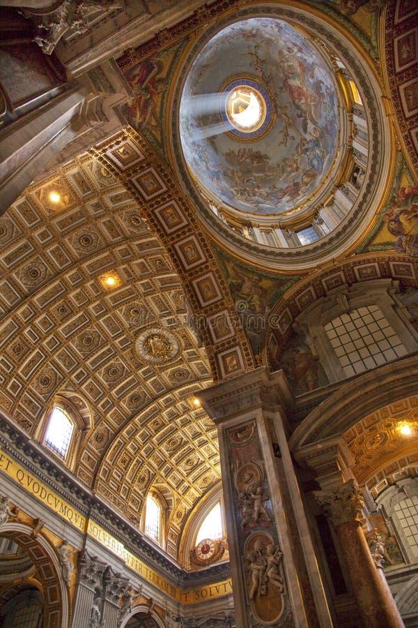 Bóveda Roma del techo de Vatican fotografía de archivo libre de regalías