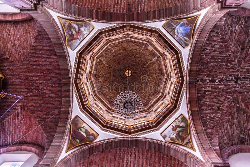 Bóveda San Miguel de Allende Mexico de las monjas de la Inmaculada Concepción del convento imagen de archivo libre de regalías