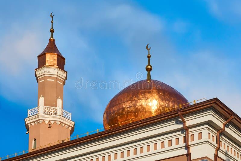 Bóveda y alminar de la mezquita fotografía de archivo libre de regalías