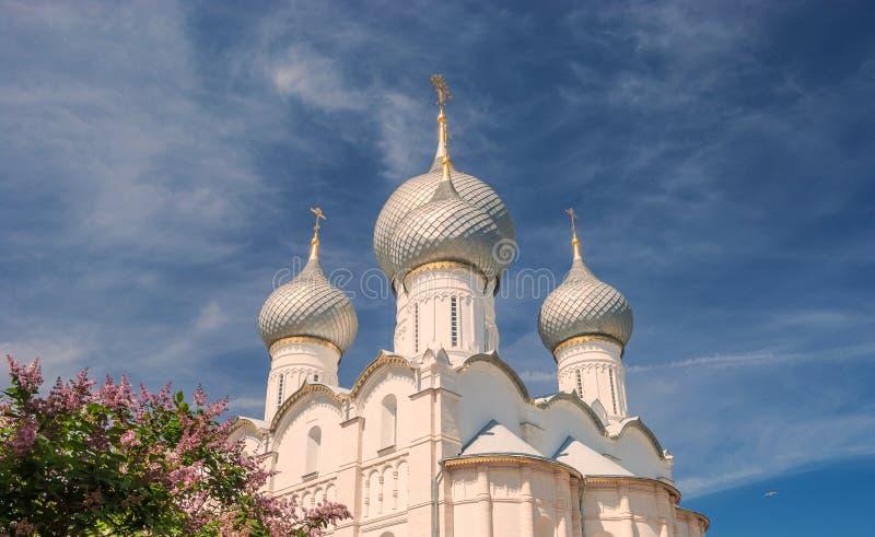 Bóvedas de la catedral de la suposición fotos de archivo