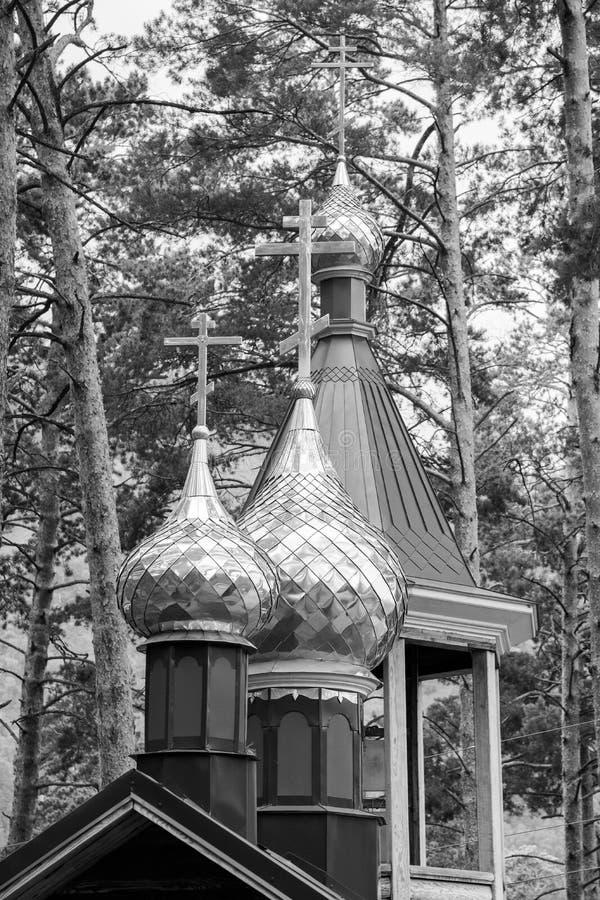 Bóvedas de oro con las cruces de la iglesia ortodoxa Rebecca 36 fotos de archivo