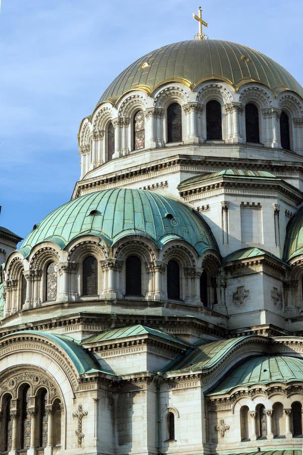 Bóvedas de oro del santo Alexander Nevski de la catedral en Sofía, Bulgaria imagen de archivo libre de regalías