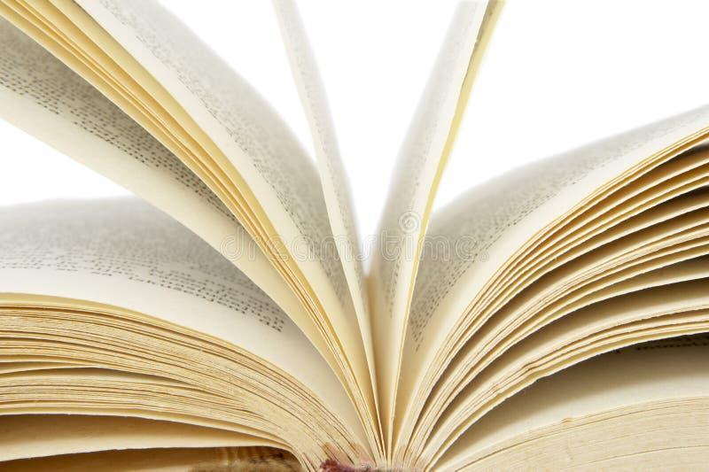 Böcker öppnar 1 royaltyfria bilder