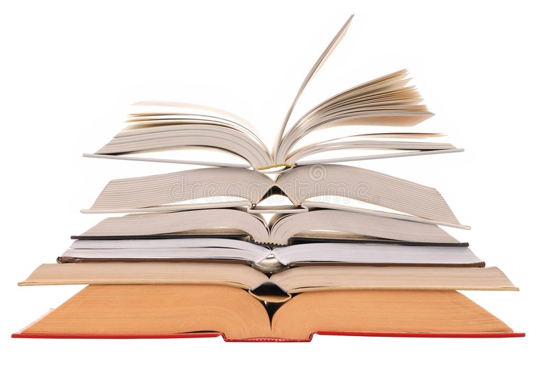 böcker öppnar royaltyfri bild