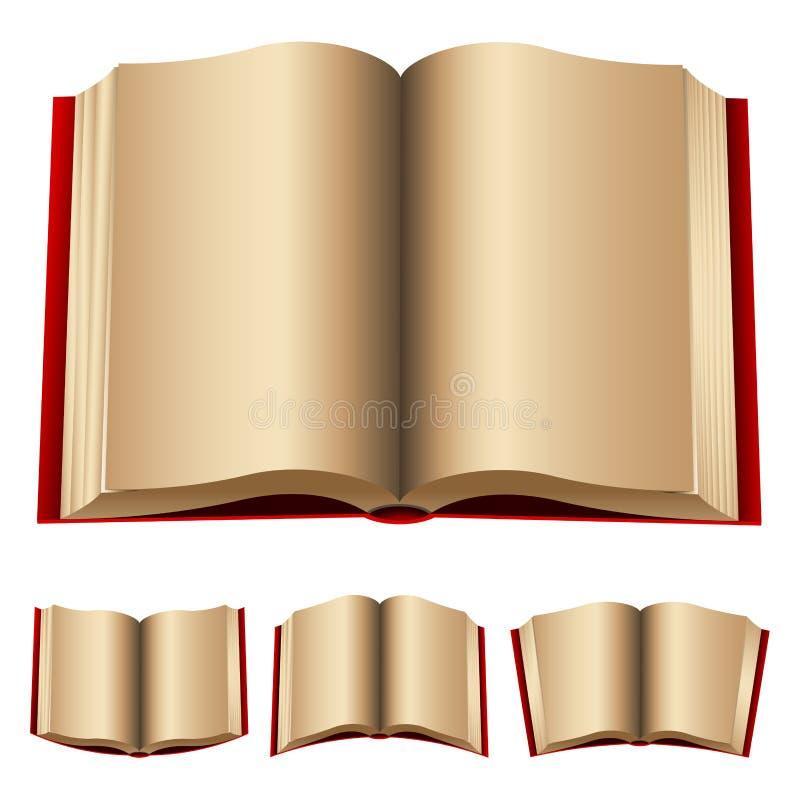 böcker öppnar red stock illustrationer