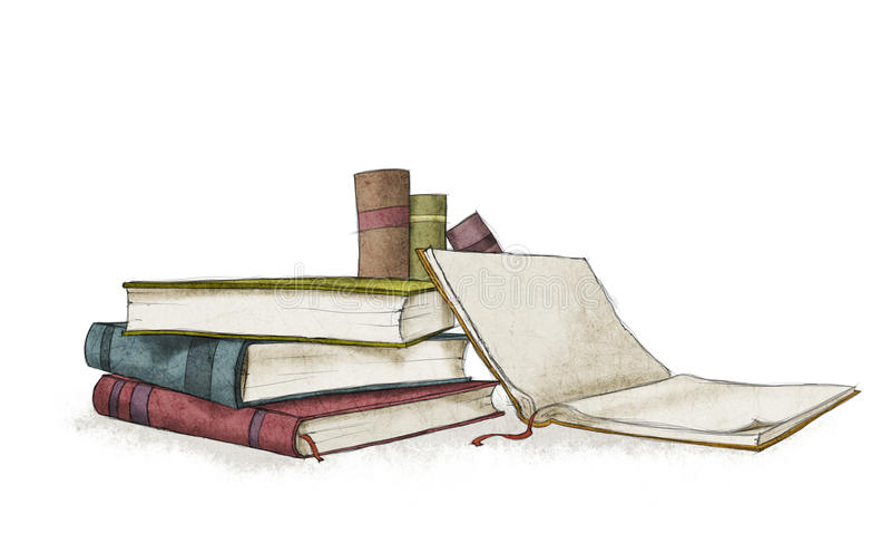 Böcker royaltyfri illustrationer