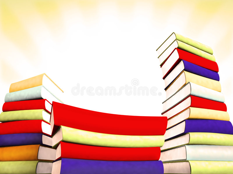 böcker 3d planlägger massivt stock illustrationer