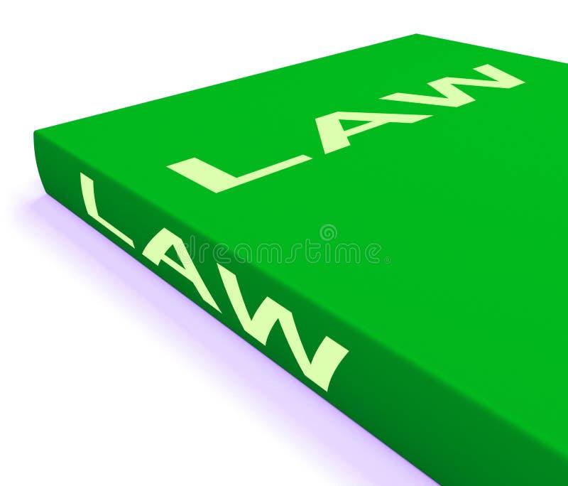 Böcker för shower för lagbok om laglig rättvisa stock illustrationer