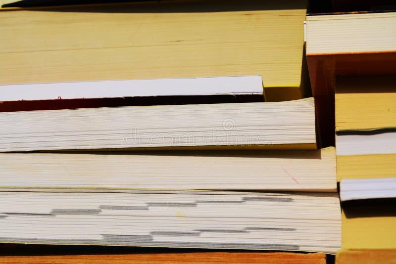 Böcker i förgrund royaltyfria foton