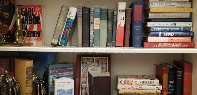 Böcker i vråer fotografering för bildbyråer