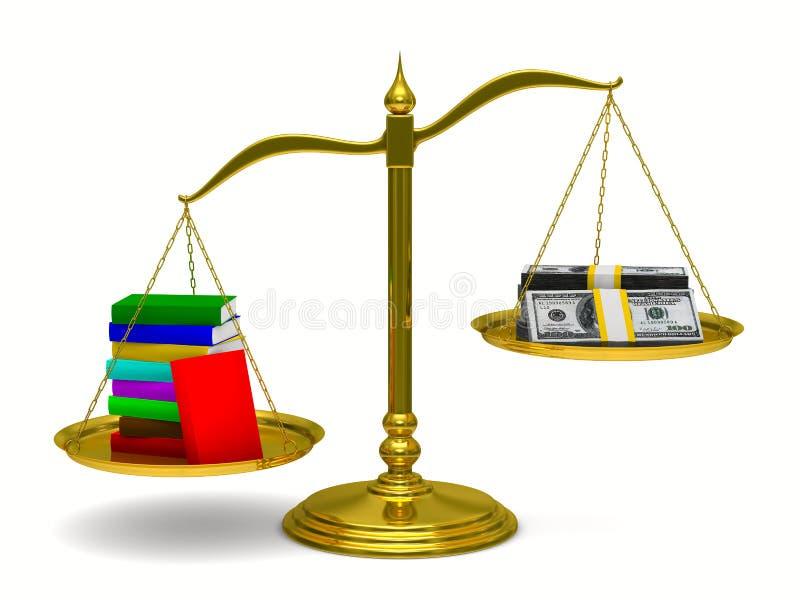 böcker isolerade scales för pengar 3d vektor illustrationer