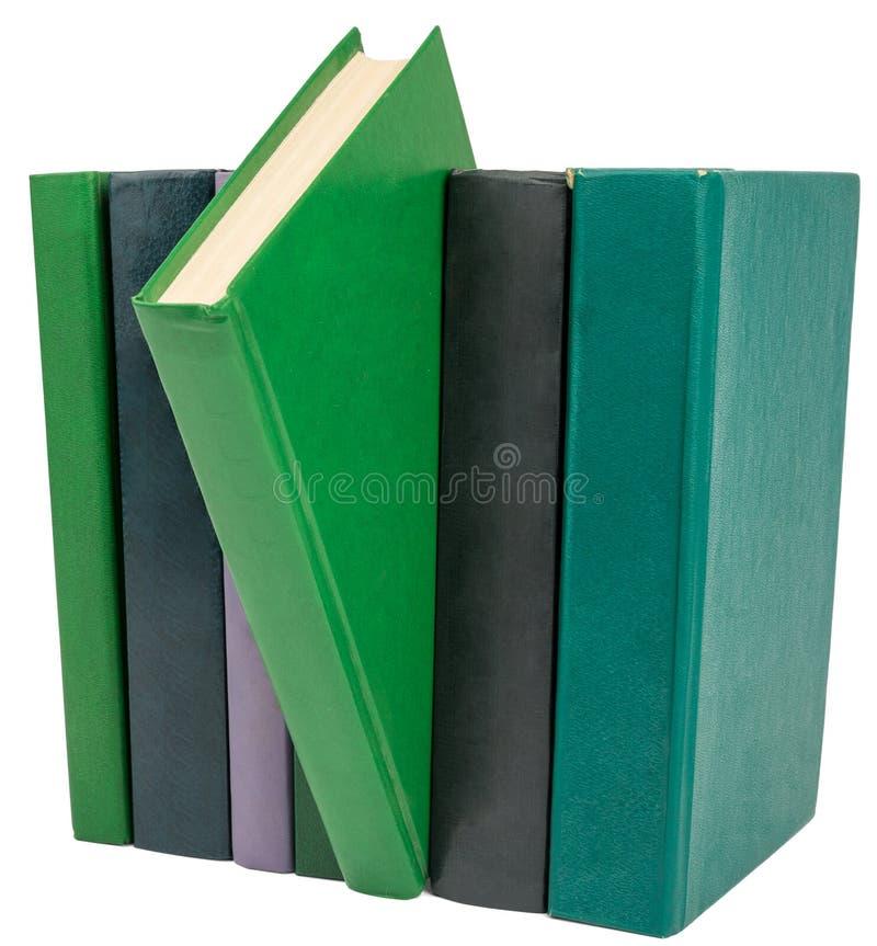böcker isolerade white royaltyfri fotografi