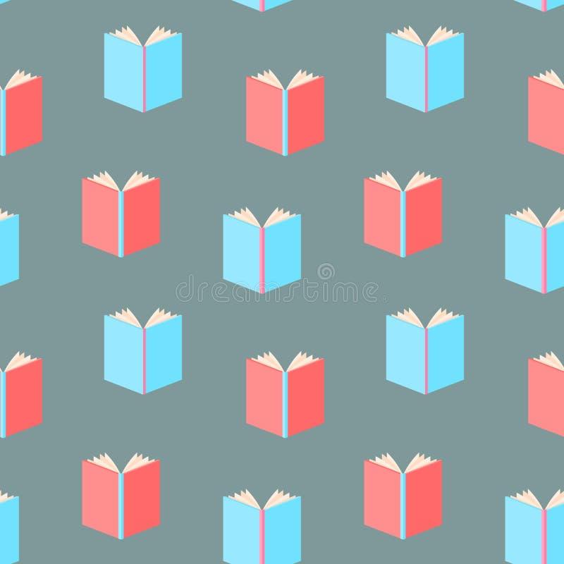 Böcker mönstrar sömlöst stock illustrationer