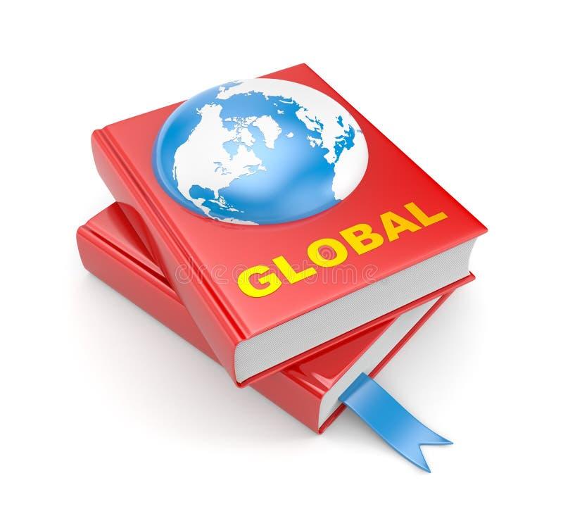 Böcker och jord. Globala metaforer stock illustrationer