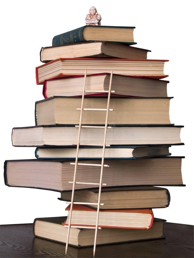 Böcker och okimono royaltyfri bild