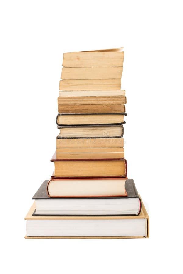 böcker som isoleras över buntwhite arkivfoton