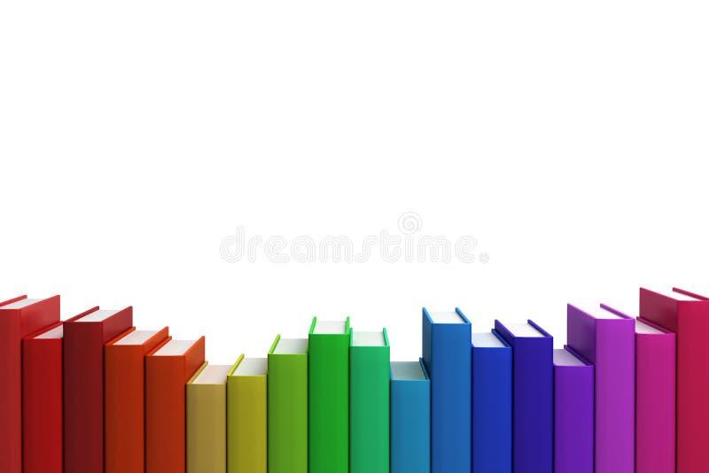 böcker stänger färgrik rad staplar upp vektor illustrationer