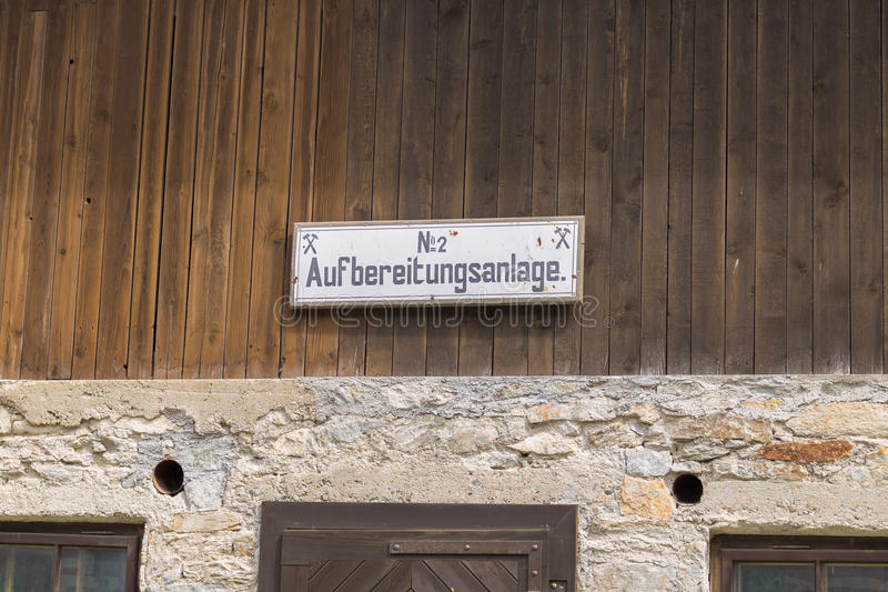 Böckstein, Salzburg Austria - JUNE 09, 2017: Old Gold mining mu. Seum, Montane Museum with gold plants and old houses in Austria royalty free stock photos