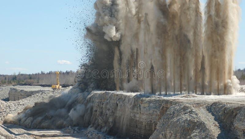 Böe in der geöffneten Grube lizenzfreies stockfoto