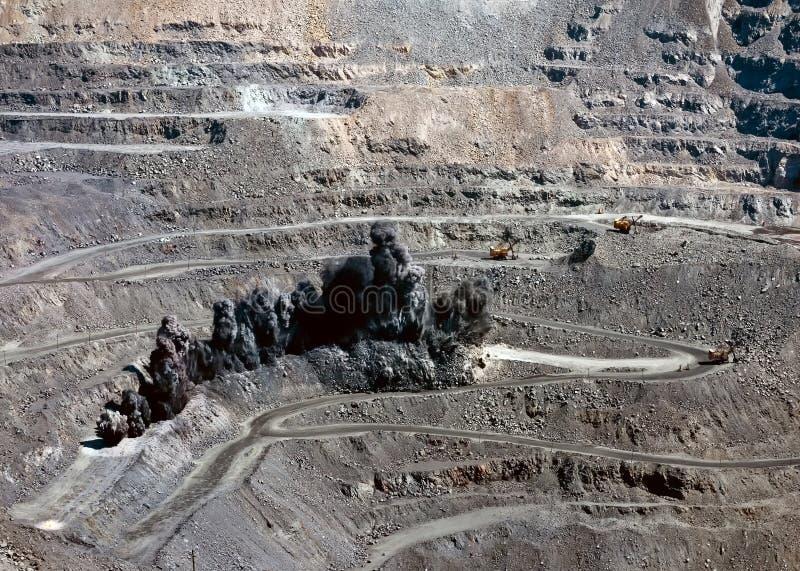Böe in der Tagebaugrube stockfotografie