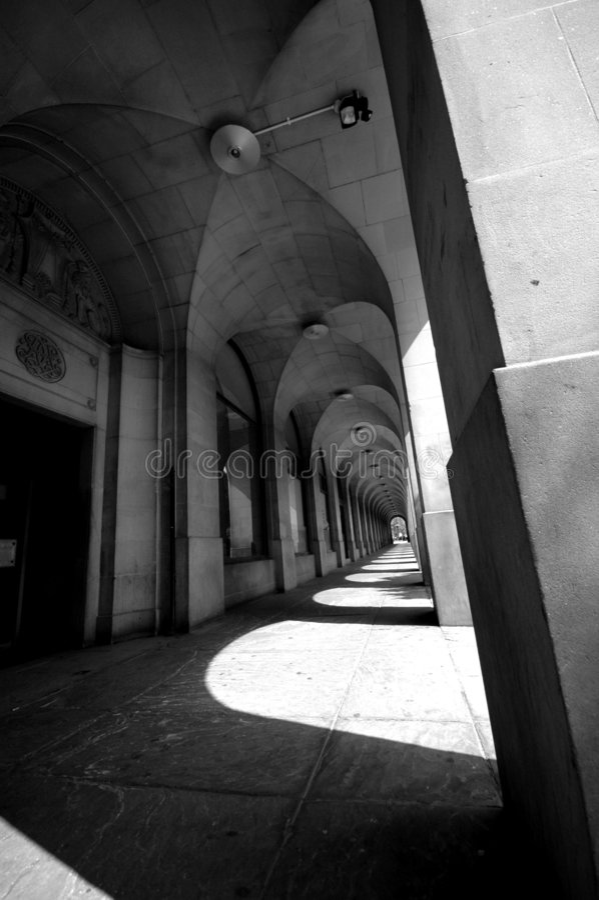 Bögen, Str. Peters quadratisches Manchester stockfotografie