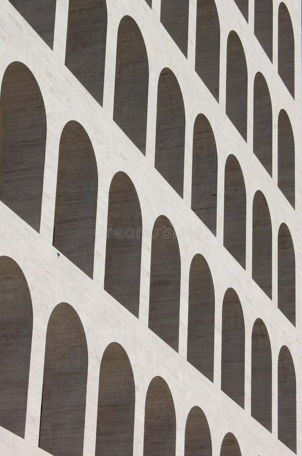 Bögen von quadriertem Colosseum lizenzfreies stockbild