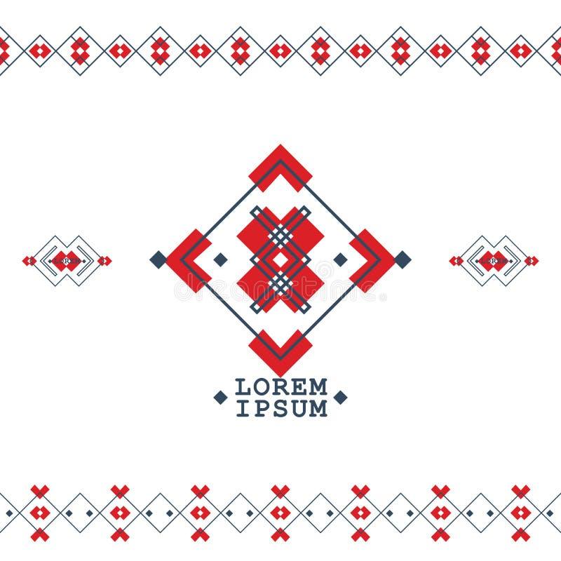 Böhmische Artelemente mit geometrischen Formen für modernen Vektorhintergrund stock abbildung
