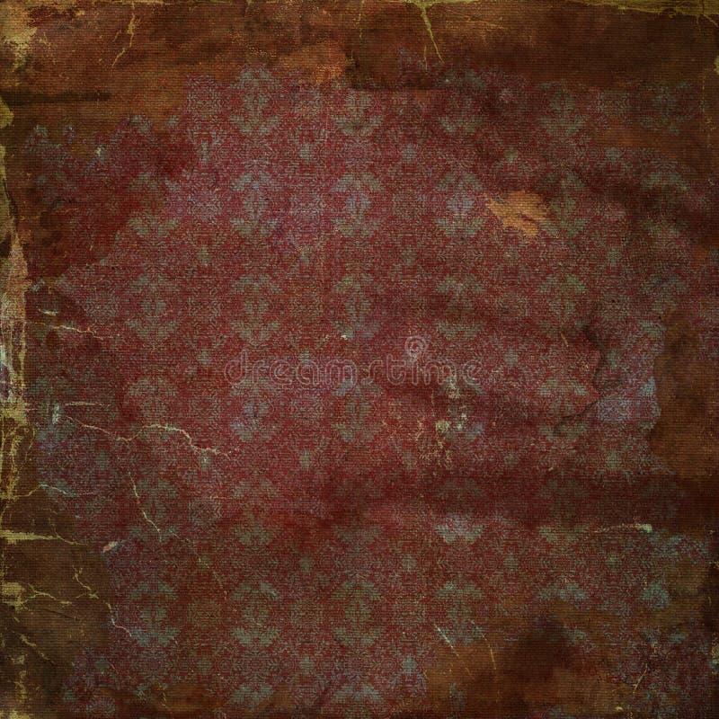 Böhmisches Schmutzeinklebebuchpapier stockbild
