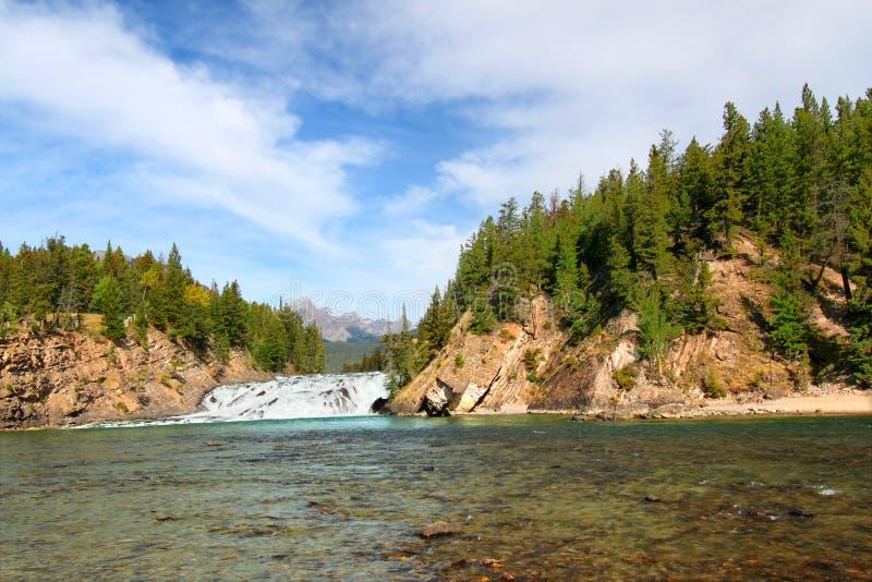 Böj Falls i Kanada arkivfoto