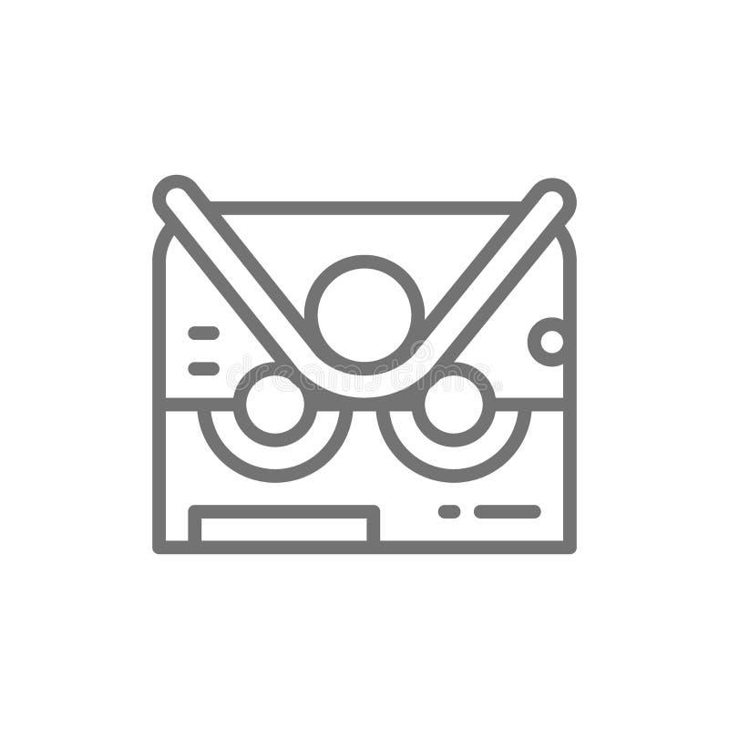 Böjande maskin för rör, krökningmaskinlinje symbol royaltyfri illustrationer