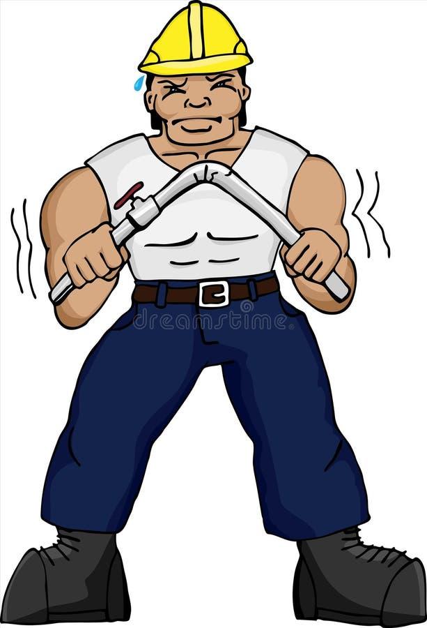 böjande muskulöst rør för leverantör stock illustrationer
