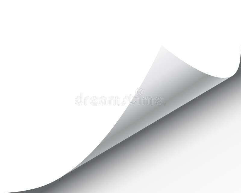 böjda skuggor för papper för hörnkrullningssida realistiska sheet