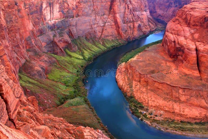 böjer Coloradofloden arkivbild