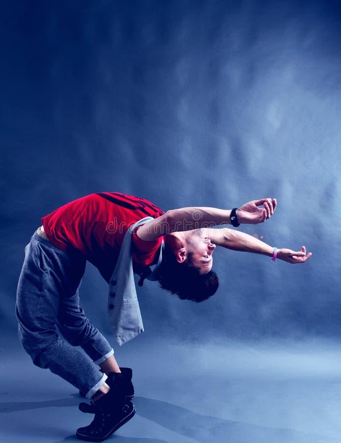 Böjliga Breakdancer royaltyfria foton