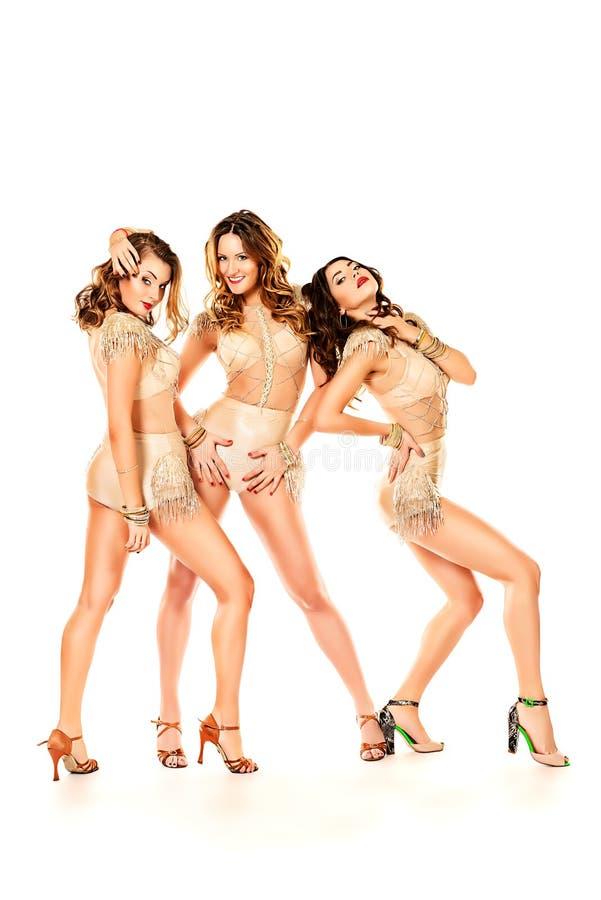 Böjliga dansare arkivfoto