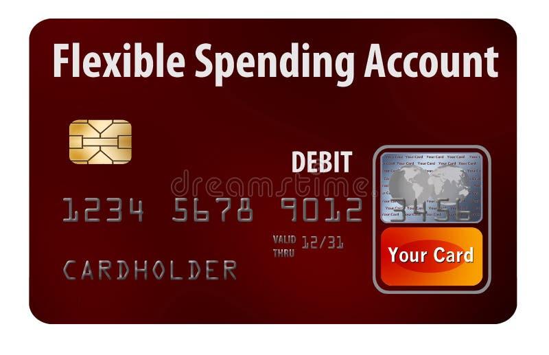 Böjligt kort för debitering för utgifterkontoFSA vektor illustrationer