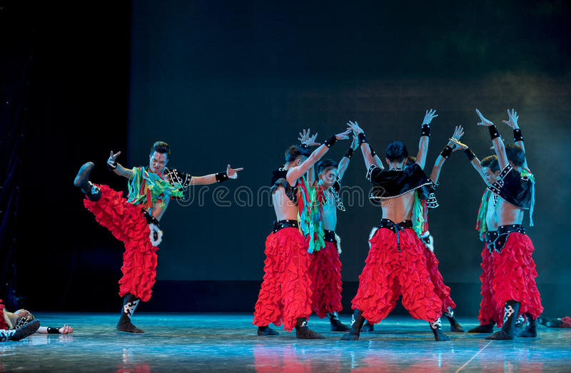 Bön för folkdansen för lek-mongolians-medborgare arkivbild