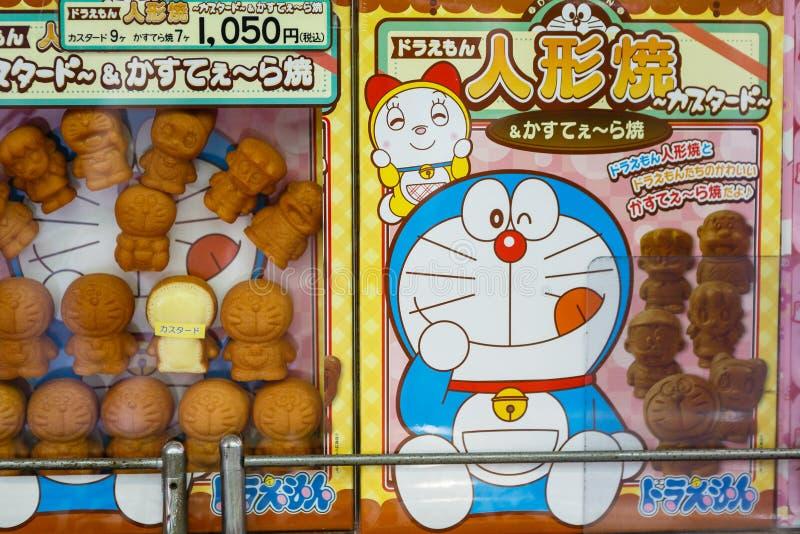 Bönadegkaka Doraemon arkivfoton