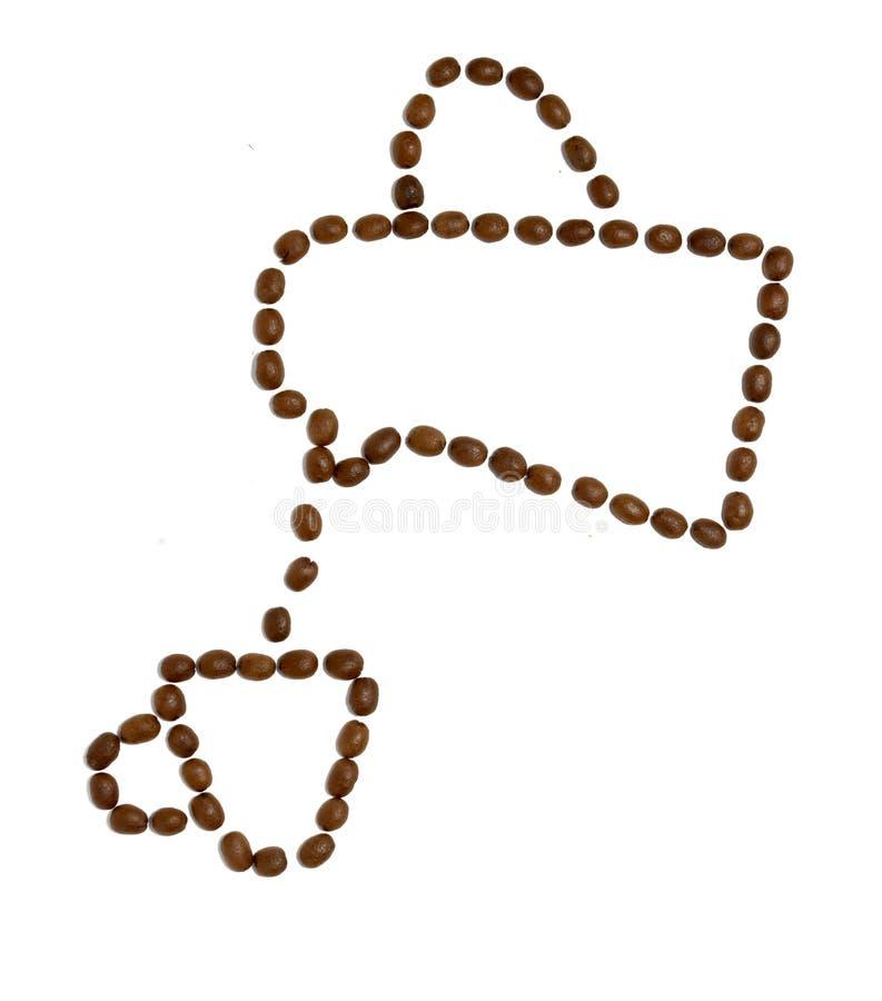 bönakaffedesign arkivfoto