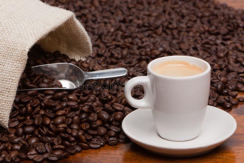 bönakaffeespresso royaltyfria foton