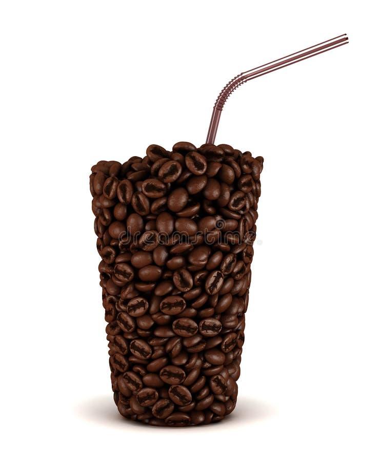bönakaffeexponeringsglas gjorde formsugrör vektor illustrationer