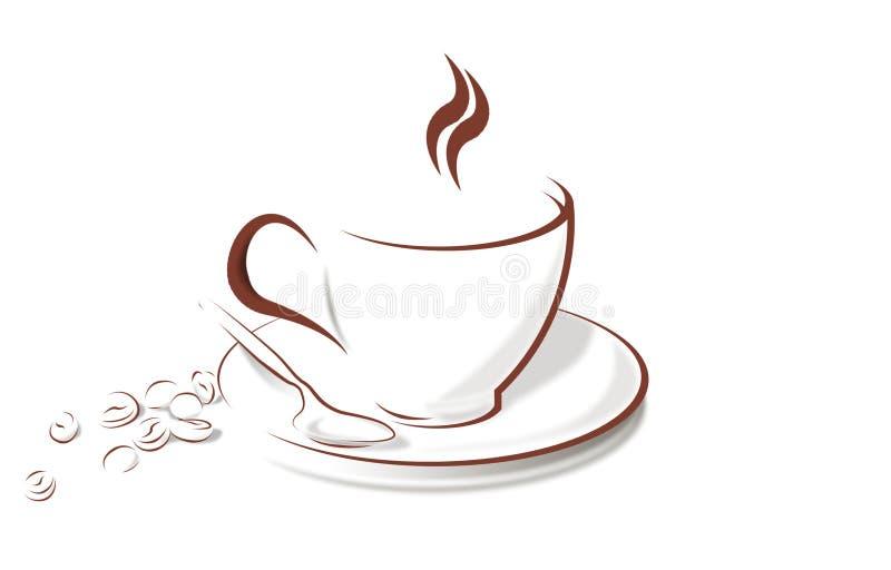 bönakaffekopp stock illustrationer