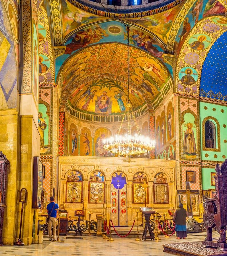 Bönkorridoren av den Sioni domkyrkan royaltyfria foton